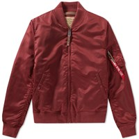 Alpha Industries Ma 1 Vf 59 Flight Jacket Burgundy
