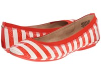 Bandolino Edition Red Off White Multi Synthetic Women's Flat Shoes