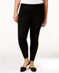 Belldini Plus Size Embellished Leggings Black