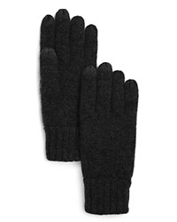 The Men's Store At Bloomingdale's Knitted Tech Gloves Black