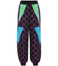 Gucci Sequined Wool Track Pants Black