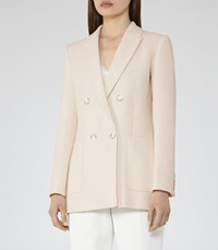 Reiss Lille Womens Double Breasted Blazer In White
