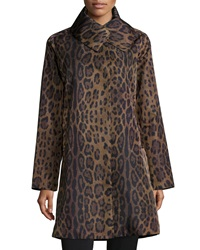 Jane Post Leopard Print Water Repellent Coat
