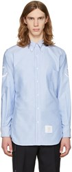 Thom Browne Blue Anchor Sleeve Classic Shirt