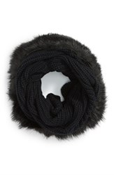 Women's Evelyn K Faux Fur Trim Infinity Scarf