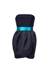 Jason Wu Navy Strapless Belted Dress Blue
