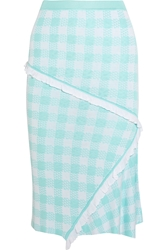 Sibling Gingham Intarsia Knitted Skirt