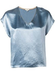 Bellerose Satin Loose Fit Blouse Blue