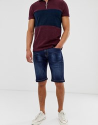 Voi Jeans Denim Shorts In Dark Blue
