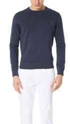 Todd Snyder Crew Neck Sweatshirt Blue