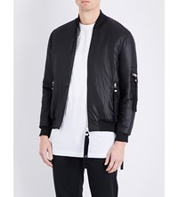 Blood Brother Woven Shell Bomber Jacket Black