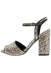 Office Showtime Sandals Champagne Glitter Silver