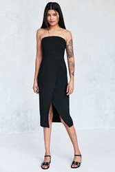 Silence And Noise Structured Strapless Midi Dress Black