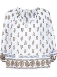 Joie Floral Print Blouse White