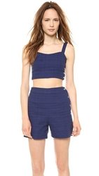J.O.A. Amy's Sleeveless Crop Top Navy