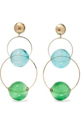 Rosantica Bolle Glass And Gold Tone Clip Earrings One Size