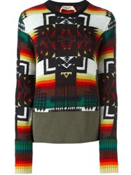 N 21 No21 Aztec Pattern Jumper Multicolour
