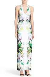 Women's Ted Baker London 'Torus' Floral Print Halter Maxi Dress