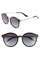Juicy Couture 52Mm Round Sunglasses Black Gold Black Gold