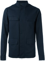 Emporio Armani Button Up Jacket Blue