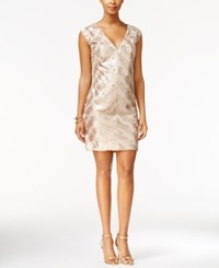 Rachel Roy Sequined Cocktail Dress Gold Champ