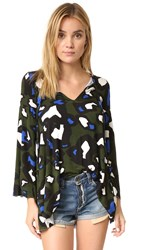 Clayton Cora Tunic Olive Animal