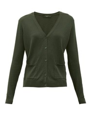 Max Mara Weekend Girino Cardigan Dark Green