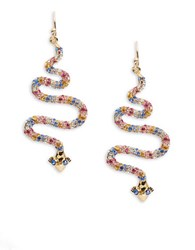 Kate Spade Spice Things Up Pave Snake Earrings Grey