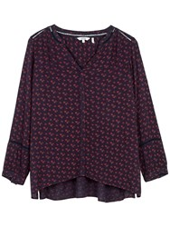 Fat Face Tania Wheatsheaf Popover Blouse Navy