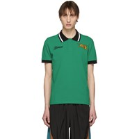 08dcf69dfd Kenzo Green Jumping Tiger Fitted Polo