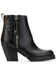 Acne Studios Stacked Heel Boots Black