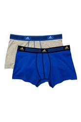 Adidas Athletic Stretch Trunk Pack Of 2 Blue