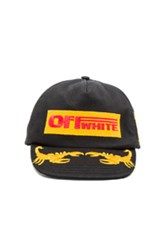 Off White Work Cap In Black