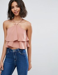 Influence Strappy Crop Top Pink