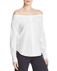 Theory Auriana Off The Shoulder Shirt White