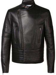 Givenchy Band Collar Biker Jacket Brown