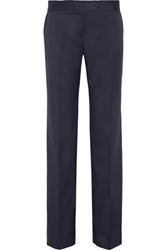 Stella Mccartney Jasmine Wool Twill Wide Leg Pants Navy