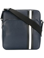 Bally Striped Tote Men Calf Leather One Size Blue