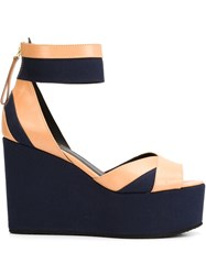 Pierre Hardy Ankle Strap Wedge Sandals Nude And Neutrals