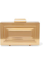 L'afshar Leora Mirrored Acrylic Clutch Gold