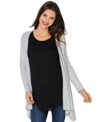 Design History Maternity Draped Open Front Cardigan Light Heather Grey
