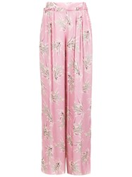 Clube Bossa Printed Riboud Palazzo Pants Pink And Purple