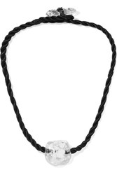 Maryam Nassir Zadeh Omen Glass And Cord Necklace Black