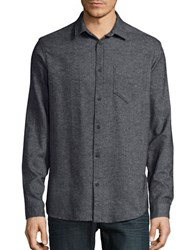 Selected Striped Cotton Sportshirt Mirage Grey