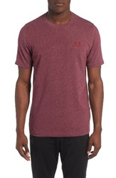 Under Armour Men's 'Sportstyle' Charged Cotton Loose Fit Logo T Shirt Maroon Pomegranate
