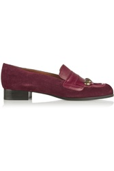 Tomas Maier Leather Trimmed Suede Loafers
