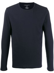 Majestic Filatures Slim Fit Long Sleeve T Shirt Blue