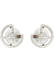 Lara Bohinc 'Planetaria' Stud Earrings Sterling Silver Metallic