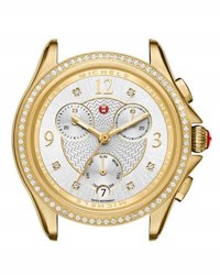 Michele 37Mm Belmore Watch Head With Diamonds Gold