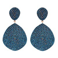 Latelita London Monte Carlo Earring Rosegold Sapphire Zircon Blue Rose Gold